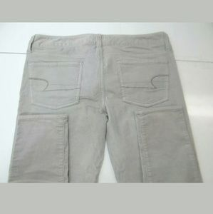 American Eagle Corduroy Jegging Jeans Gray Size 8